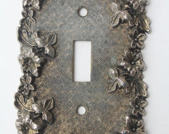 Hollywood Regency metal Light Switch 1967 Paris Glam Shabby Chic Aged Brass