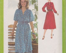 Simplicity 9062 Misses' Pullover Dress Pattern, UNCUT, Size 16, Retro, Vintage 1979, Flashback, Workwear, Fashion