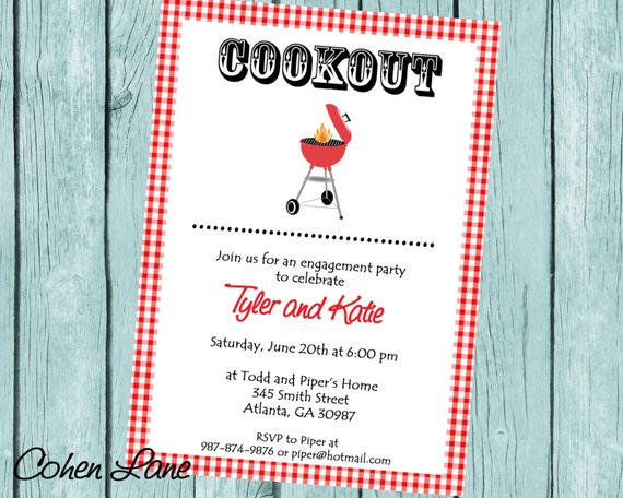 Engagement Party Invitations Ideas Bbq Engagement Party Invite