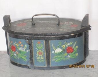 Antique Shaker  Wedding Box 1924