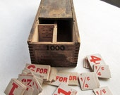 Hopp Press Inc Vintage Box with Midget Sectional Tickets Patented 1920's Chelsea NYC