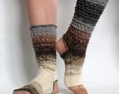 Yoga Socks Dance Pilates Ballet Brown Gray Leg Warmers ankle warmers dancer
