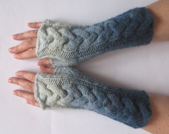 Fingerless Gloves Azure Blue wrist warmers