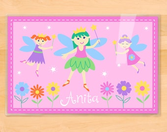 Fairy Princess Personalized Placemat by Olive Kids, Personalized Kids Placemat, Laminated Placemat, Girls Placemat, Mealtime, Snacktime