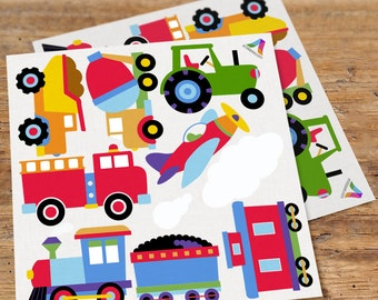 Olive Kids Trains Planes and Trucks Wall Decal Cut Outs