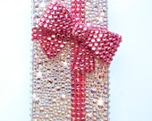 3D Bow Pink Tiffany Case Handmade with Swarovski Elements Iphone 6 Iphone 6 PLUS