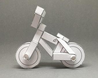 paperbikes v3 - BMX street bike - papercraft bicycle model kit