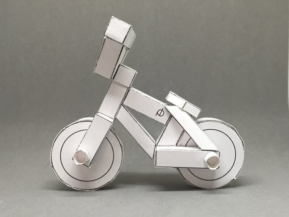 paperbikes v3 - BMX street bike - papercraft bicycle model kit
