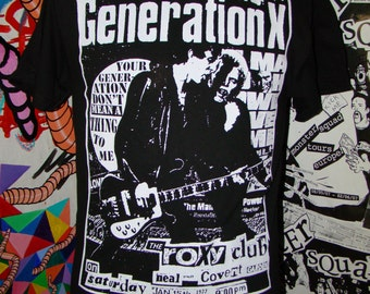 Generation X 1977 flier shirt men's small - XL