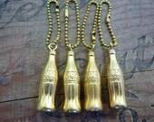 Key Chain Vintage Coca-Cola Gold Metal Advertising Key Chains (1) Old Store Stock-Advertising Collectible-Vintage Coke-Key Chain