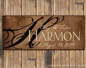 Personalized Wood Family Established Sign, Family Name Sign, Last Name Sign, Wall Art, Wedding Sign, Wedding Anniversary Gift