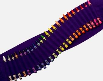 Kids Crayon Bandolier   Purple