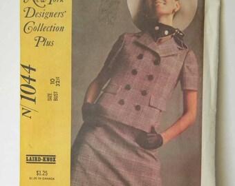 Vintage 1968 McCall's 1044 Laird-Knox Pattern Misses Size 10 Uncut