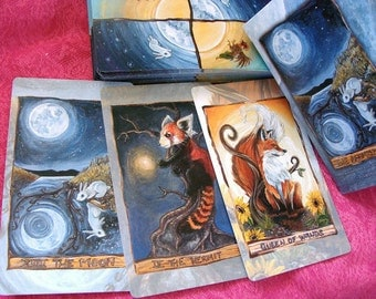 Animism Tarot Deck, 79 Card Animal Tarot, Includes Happy Squirrel Tarot Card, Tarot Reader Gift, Spirit Animal Totem