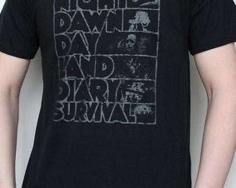 Zombie T-shirt Romero Night of The Living Dead Series Screenprint, sizes Men S, M, L, XL