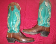 Turquoise Leather Buckaroo Boots for the Discerning Cowboy