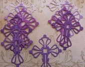 10 Scroll Cross Die Cut shape pieces made from Assorted Purple Cardstock Girl Religious Baptism DIY Centerpiece Baby Dedication Decorations