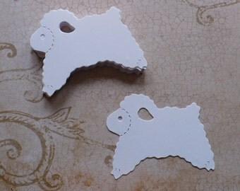 20 pc White  Easter Lambs / Sheep Baby Sheep Die Cuts Cardstock for crafts, cards,  Easter