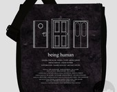 Being Human messenger bag - Choose from 2 designs (Made to order)