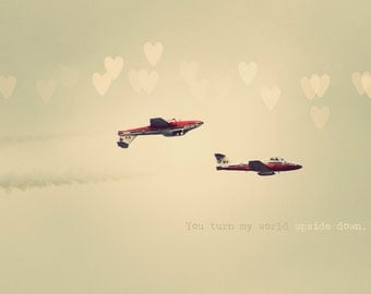 Canadian Snowbirds, Airplane Art, Gift For Him, Valentine's Day Gift, Holiday Gift, Anniversary Gift, Gift For Lovers, Photo Quote