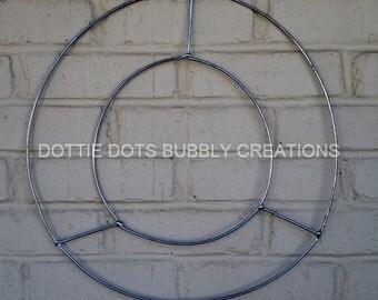 Flat Round Wreath Wire Form