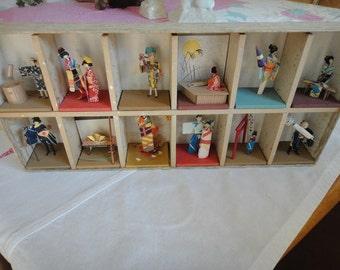 Vintage Japanese monthly calendar celebrations