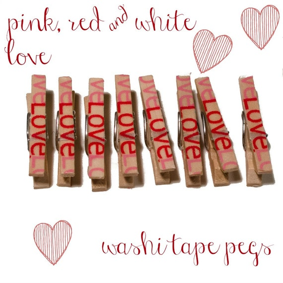 Basket Weaving Supplies Melbourne : Clothespins for office supplies set of pink red