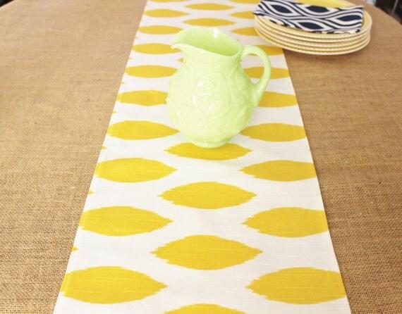 runner table Prints yellow Runner Buffet wedding Table Table Runner Cloth Wedding  Premier Yellow