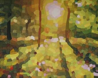 Light of Mine: original oil painting, landscape, sunlight, contemporary