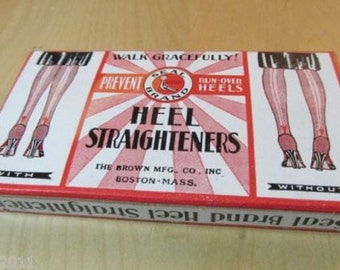 Vintage 1940's Unused Package of Deco Seal Brand Heel Straighteners