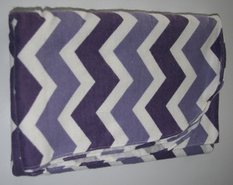 Baby Girl Swaddle Blanket: Purple & Lavender Chevron