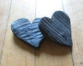 His and Hers Heart Shaped Cut Outs One of a Kind Driftwood Heart Shapes Love