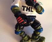 1991 Ninga Turtle  Leonardo Hockey  Mirage Studios Playmates Toys TMNT