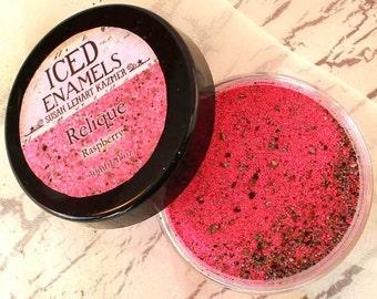 ICED Enamels Relique Powders RASPBERRY Ice Resin