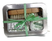 Gardener's Gift Tin // Gifts for Her  // Shea Soap, Nail Brush and Deeply Healing Hand Balm and Cuticle Cream // Hand Care Gift Tin
