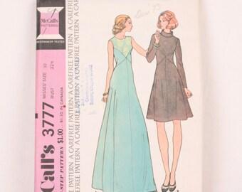 1970s McCall's 3777 // maxi dress // long sleeve dress