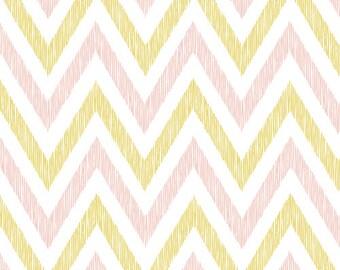 Cloud9 Organic Fabrics - Simpatico - Chevrons Pinkish B 1/2 YD