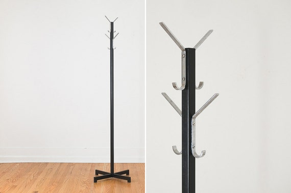 Industrial Mid Century Modern Coat Rack