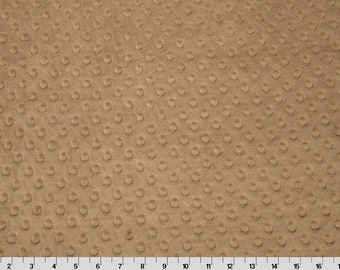 Taupe Dimple Minky From Shannon Fabrics 1 Yard
