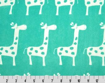 Topaz Giraffe Premier Prints Minky From Shannon Fabrics