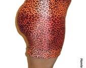 Leopard-print Lycra skintight miniskirt/tube top by Hamlet Pericles