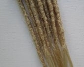 """CUSTOM Human hair dreadlock extenders extensions, 18"""" hair, 10 pcs"""