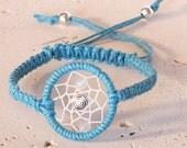 Snow Quartz Dreamcatcher Bracelet, Native American Inspired, boho bracelet, native bracelet
