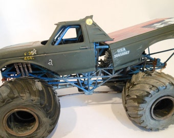 Weathered Scale Model Ford Monster Truck by Classicwrecks