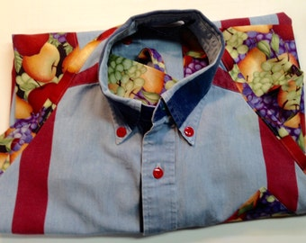 Apron Repurposed from Shirt -