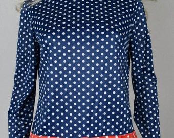 Vintage 1960's Women's ReTrO PoLKa DoT HiPPiE ULtrA MoD RoMPeR Jumpsuit Shorts Go-Go MiNi Dress M