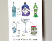 Martini with gin or vodka