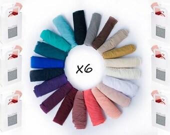 Bridesmaids Shawls, Set Of  6 Sheer Convertible Shawls. Each Shawl You Can Wear As A Shawl, Scarf, Crisscross Or Scarf. Bridal Party Shrugs