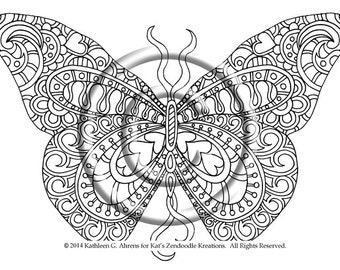Intricate Butterfly Coloring Pages