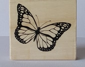 Monarch Butterfly Wooden Mounted Rubber Stamping Block DIY cards, scrapbooking, tags, Invitations